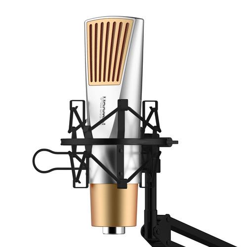 microfono cable yanmai q6 juego condensador dorado