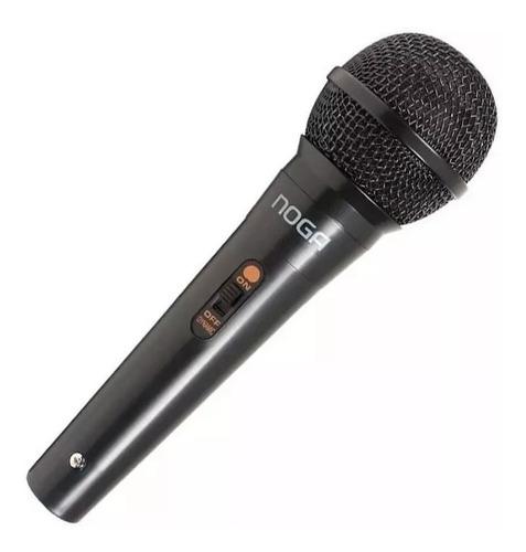 microfono con cable noganet y adaptador karaoke sabattini