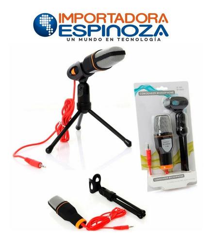 microfono con condensador + tripode + plug 3.5mm stereo