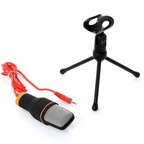 micrófono condensador 3.5 mm mini tripie negro envío gratis