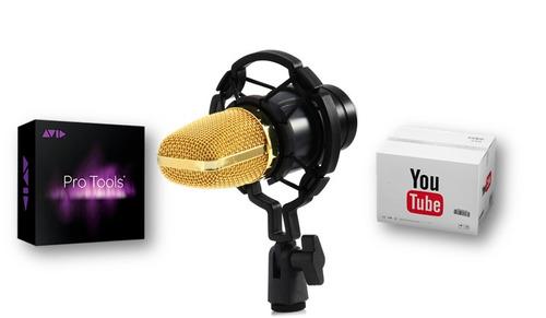 micrófono condensador bm700 estudio profesional + regalo
