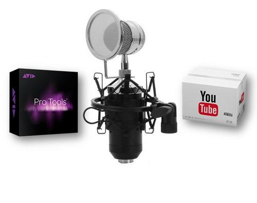 micrófono condensador bm8000 estudio profesional + regalo