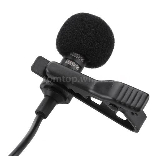 micrófono condensador de solapa lavalier para smartphones