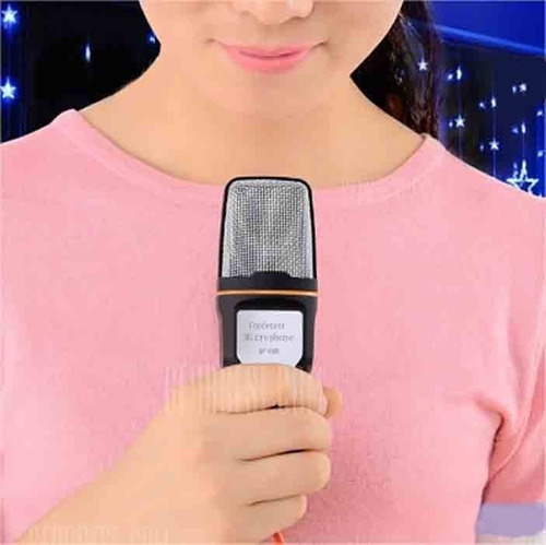 microfono condensador jack mini tripode semiprofesional