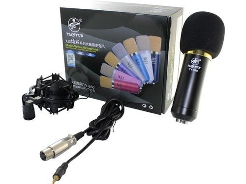 microfono condensador kit completo d estudio podcast youtube