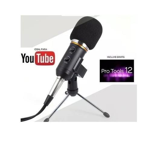 micrófono condensador mk-f200fl estudio profesional + regalo