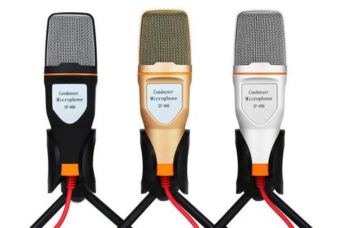 micrófono condensador plug semiprofesional c/tripie (1075)