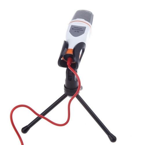 micrófono condensador plug semiprofesional mini tripie sf666