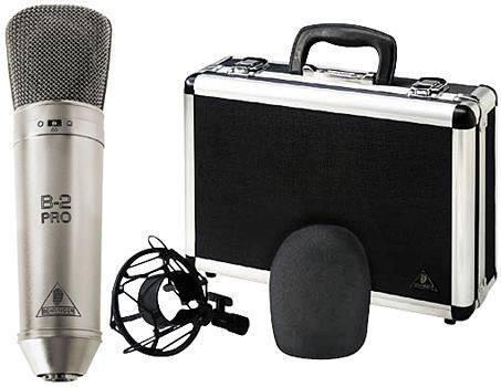 microfono condensador profesional b2 pro behringer oro