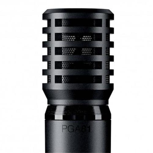 micrófono condensador shure pga81-lc inst. acústicos vivo y