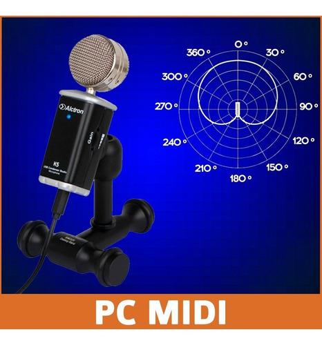 micrófono condensador usb alctron k5 cardioide no samson