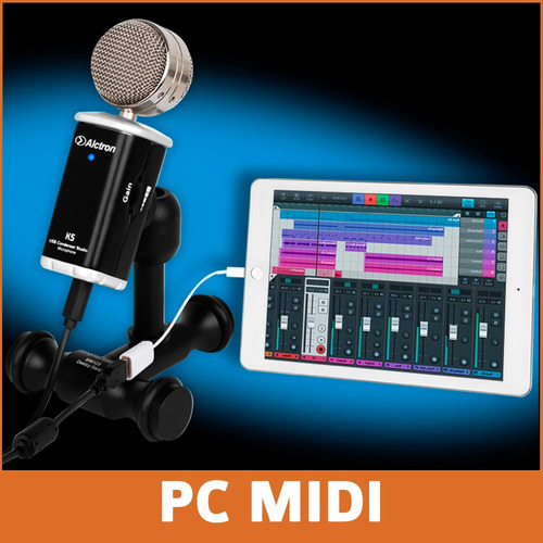 micrófono condensador usb alctron k5 radio video podcast