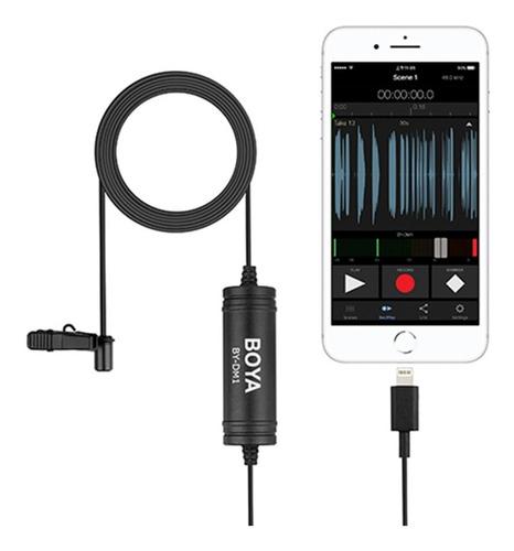 microfono corbatero boya p/ iphone lightning by-dm1
