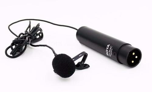 microfono corbatero c/ conector xrl / phanton 48v boya bym4c