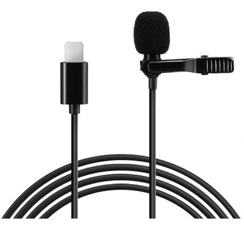micrófono corbatero lightning para iphone ipad profesional