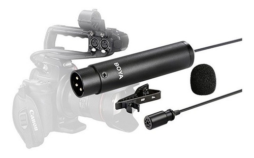 microfono corbatero omnidireccional boya xlr video by-m4od