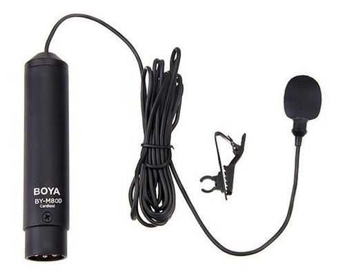 microfono corbatero omnidireccional boya xlr video by-m8od