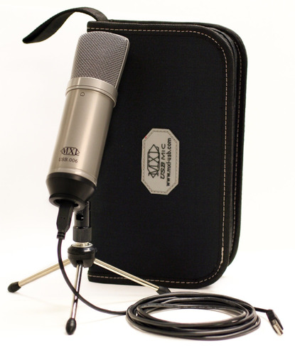 microfono de condensador mxl usb 006 profesional para studio