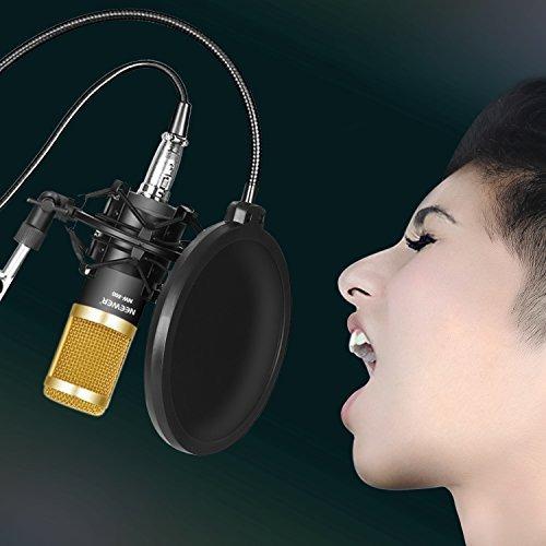 micrófono de condensador nw-800 neewer + phantom  power