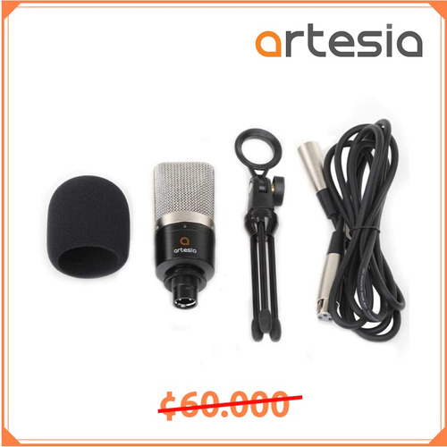 micrófono de condensador p/ estudio amc-10 artesia rebajado!