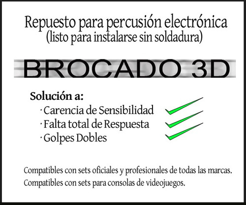 micrófono de contacto, repuesto trigger piezo eléctrico - nv