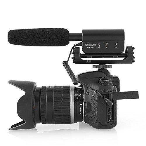 micrófono de entrevista takstar sgc-598 para nikon / canon