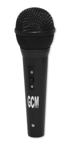 micrófono de mano karaoke gm-049 + cable 3m gcm pro