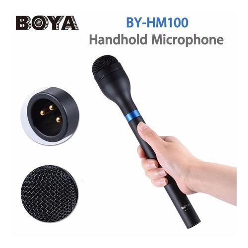 microfono de mano p/ entrevista dsrl video boya by-hm100