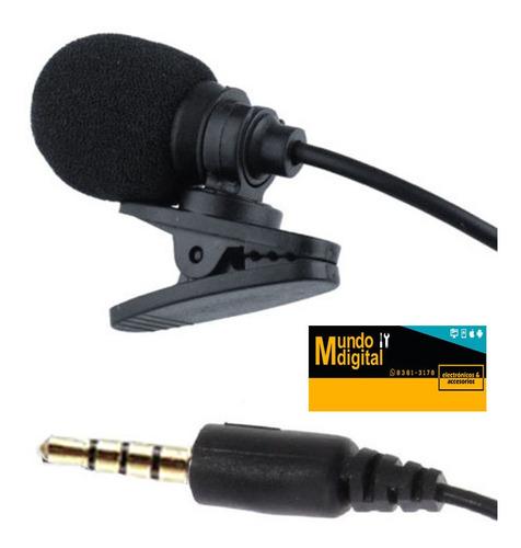 micrófono de solapa para celular con su bolsita  para guarda