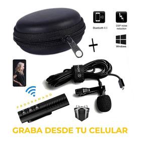 Micrófono De Solapa Pro Inalámbrico Receptor Bluetooth 4.1