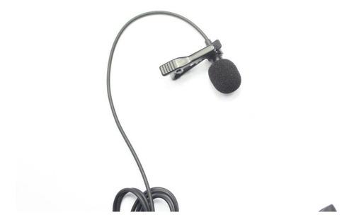 microfono de solapa star tec st-mic-01 negro 3.5 mm + adapta