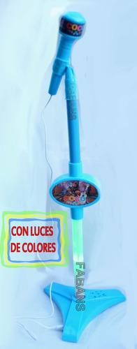 microfono de verdad + luces karaoke juguete coco niña niño