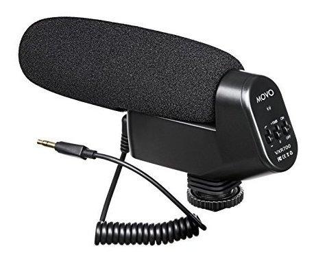 microfono de video condensador de escopeta movo vxr700 con m