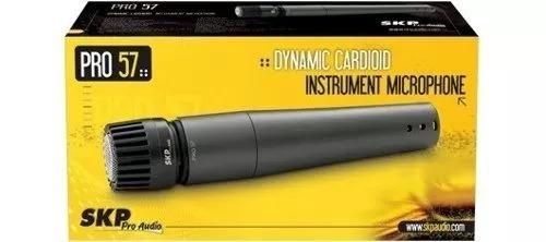 microfono dinamic skp pro 57+ base pesada soporte !!!!!!!!!