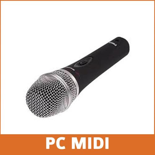 microfono dinamico alctron pm05 + pie mesa tipo shure sm58