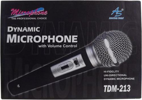 microfono dinamico control vol american sound tdm-213 3493