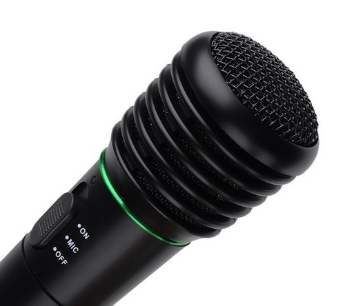 microfono dinamico inalambrico y cable karaoke 2en1  caseros