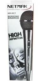 micrófono dinamico netmak mc7 c/cable ideal karaoke