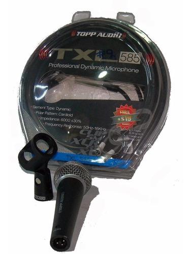 microfono dinámico patrón polar súper cardioide piaña cable