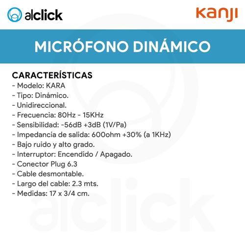micrófono dinámico plug 6,3 karaoke canto locución parlantes equipo de música tv actos presentaciones conexión universal