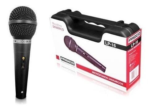 micrófono dinámico proco profecional sound lp 16