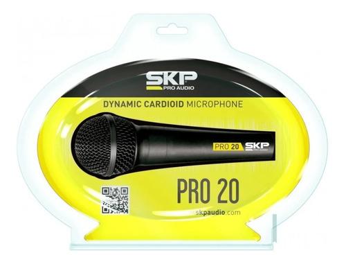 microfono dinamico profesional skp pro20  cuotas