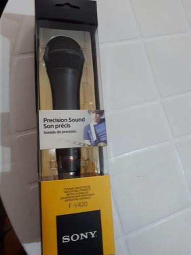 microfono dinamico profesional sony f-v420