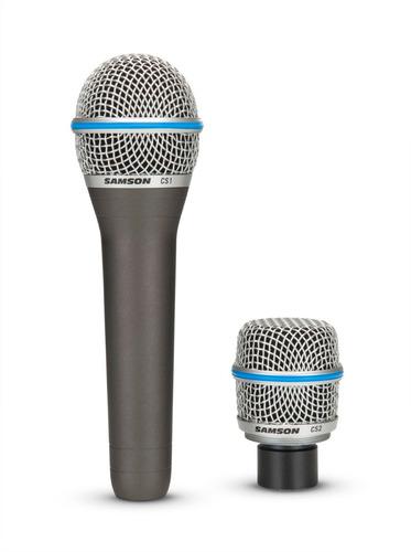 micrófono dinámico samson de doble pastilla modelo cs
