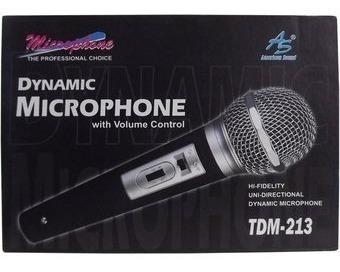 microfono dinamico tdm 213 american sound 3493