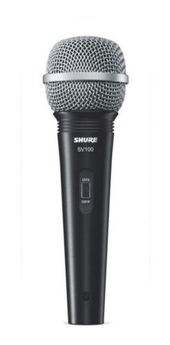micrófono dinámico vocal canto multi-uso shure sv100