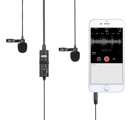 microfono doble corbatero boya p/ smartphone by-m1dm dslr