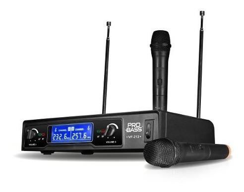 microfono doble inalambrico probass vf-212 - 101db