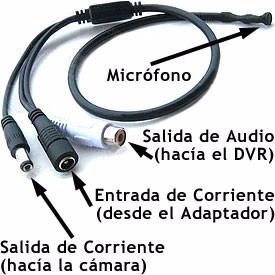 microfono espia camaras seguridad cctv conector rca
