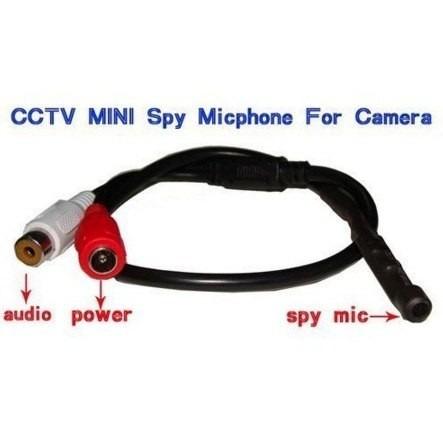 micrófono espía profesional para dvr conector rca